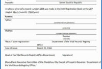 Birth Certificate Translation Template Uscis 12 Regarding for Uscis Birth Certificate Translation Template