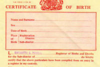 Birth Certificate Uk  Certificates Templates Free intended for Baby Death Certificate Template