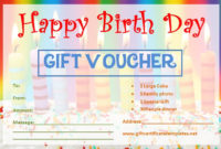 Birthday Gift Certificate Templates  Gift Certificate for Best Birthday Gift Certificate Template Free 7 Ideas