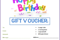 Birthday Gift Certificate Templates  Printable Gift inside Quality Kids Gift Certificate Template