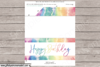Birthday Tie Dye Gift Voucher Template Printable Gift with Best Birthday Gift Certificate Template Free 7 Ideas