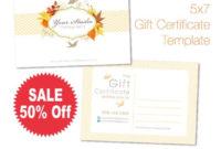Bi'S Custom Listing Gift Certificate Template 5X7 inside Free Custom Gift Certificate Template