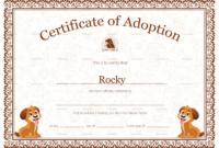 Blank Adoption Certificate Template Unique Kitten Adoption with regard to Cat Adoption Certificate Template