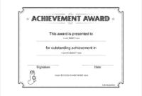 Blank Award Certificate Templates Word 1 throughout Best Blank Award Certificate Templates Word