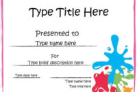 Blank Certificate  Art Award Certificate throughout Printable Drawing Competition Certificate Templates