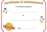 Blank Certificate Of Achievement Template 4 Di 2020 within Awesome Science Achievement Certificate Template Ideas