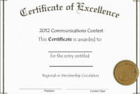 Blank Certificate Of Achievement Template New 010 Template throughout Blank Certificate Of Achievement Template