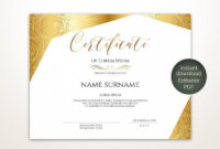 Blank Certificate Template Editable Printable Certificate intended for Awesome Blank Certificate Templates Free Download