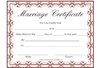 Blank Marriage Certificate Template  Professional Template throughout Awesome Blank Marriage Certificate Template