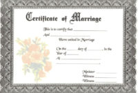 Blank Marriage Certificates  Download Blank Marriage inside Awesome Free Wedding Gift Certificate Template Word 7 Ideas
