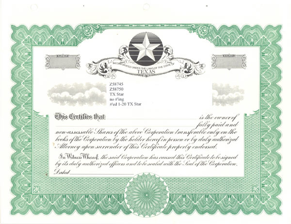 Blank Stock Certificates  Free Printable Documents intended for Blank Share Certificate Template Free