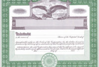 Blank Stock Certificates  Free Printable Documents pertaining to Blank Share Certificate Template Free