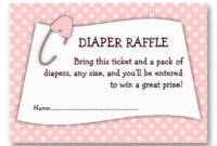 Blue Baby Shower Diaper Raffle Ticket Insert  Zazzle for Baby Shower Gift Certificate Template