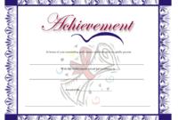 Blue Certificate Of Achievement Template Download within Swimming Achievement Certificate Free Printable