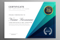 Blue Certificate Of Appreciation Template Design intended for Amazing In Appreciation Certificate Templates