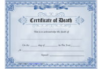 Blue Certificate Of Death Template Download Printable Pdf intended for Death Certificate Template