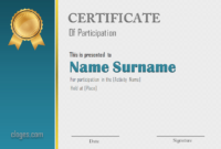 Blue Editable Word Certificate Of Participation Template within Best Free Templates For Certificates Of Participation