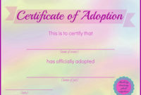 Blueberry Dreaming Printable Stuffed Animal Adoption intended for Quality Amazing Teddy Bear Birth Certificate Templates Free