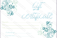 Blueezy Gift Certificate Template  For Word for Baby Shower Game Winner Certificate Templates