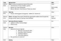 Board Meeting Agenda Template  8Free Word Pdf Documents within Word Agenda Template Free Download