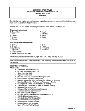 Board Of Directors Meeting Minutes Confidential  Fill Out within Board Of Directors Meeting Agenda Template