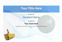 Bowling Certificate Template Free Best Of Free Ten Pin with regard to Free Bowling Certificate Template