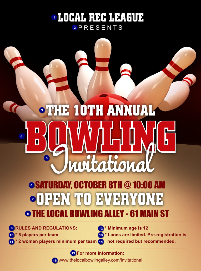 Bowling League Flyer  Ticketprinting regarding Printable Bowling Certificate Template Free 8 Frenzy Designs