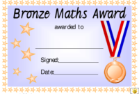 Bronze Maths Award Certificate Template Download Printable with regard to Math Achievement Certificate Templates