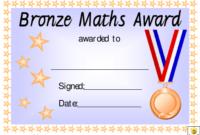 Bronze Maths Award Certificate Template Download Printable with regard to Math Achievement Certificate Templates