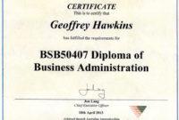 Business Management Diplomas  Certificate Templates regarding Free Leadership Certificate Template Designs