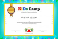 Camp Certificate Template  Kids Certificate Template In with regard to Certificate For Summer Camp Free Templates 2020