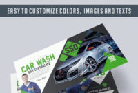 Car Wash  Premium Gift Certificate Psd Template within Printable Automotive Gift Certificate Template