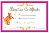Cat Adoption Certificate Template Free 6 In 2020  Birth with Amazing Pet Birth Certificate Template 24 Choices