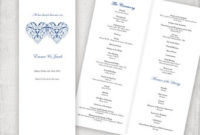 Catholic Wedding Program Template Champagne Scroll with Amazing Wedding Ceremony Agenda Template