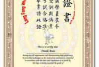 Cerificate Templates Blank Martial Arts Certificates intended for Martial Arts Certificate Templates