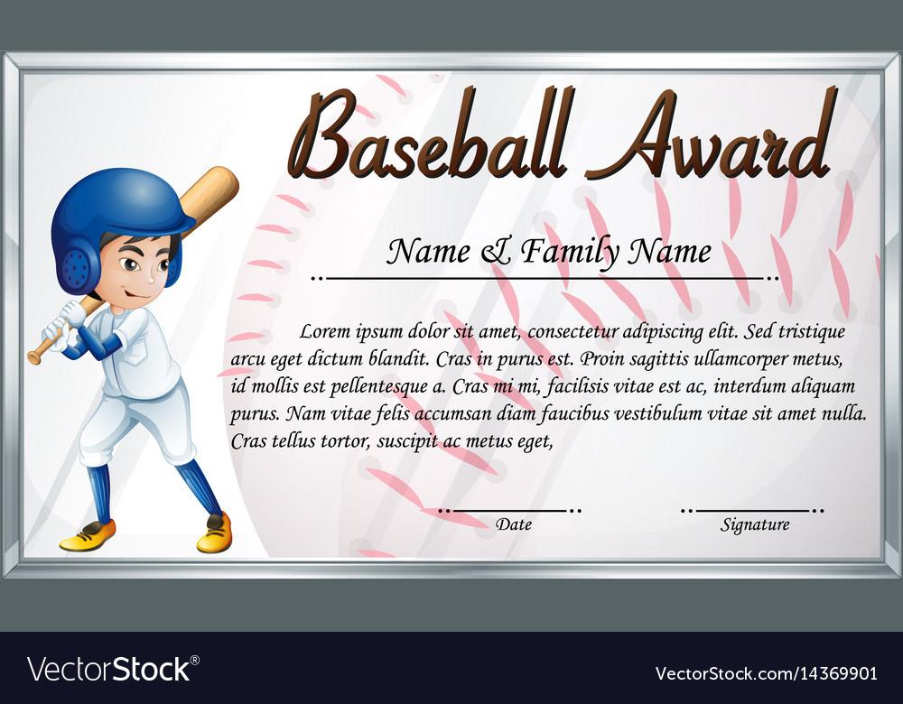 Cerificate Templates Prize Certificate Template throughout Baseball Award Certificate Template