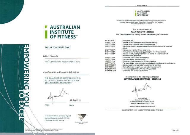 Certificate 3 In Fitness  Certificates Templates Free regarding Amazing Free 24 Martial Arts Certificate Templates 2020