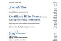 Certificate 3 In Fitness  Certificates Templates Free with regard to Free 24 Martial Arts Certificate Templates 2020