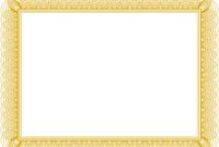 Certificate Border Design Templates 5 Di 2020  Bingkai regarding Award Certificate Border Template