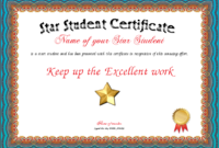 Certificate Borders And Frames  Joy Studio Design Gallery inside Star Student Certificate Template