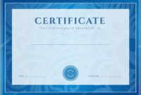 Certificate Diploma Of Completion Design Template in Best Certificate Scroll Template