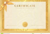 Certificate Diploma Template Gold Award Pattern Stock pertaining to Best Certificate Scroll Template