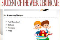Certificate For Student Of The Week 10 Free Templates in Student Of The Week Certificate