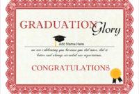 Certificate Graduation  Certificates Templates Free regarding College Graduation Certificate Template