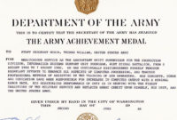 Certificate Of Achievement Army Sansurabionetassociats pertaining to Free Certificate Of Achievement Army Template