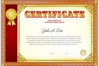 Certificate Of Achievement Blank Template  Certificate for Awesome Blank Certificate Of Achievement Template