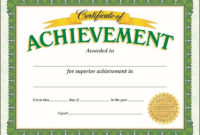 Certificate Of Achievement Classic Make Students Feel throughout Awesome Academic Achievement Certificate Templates