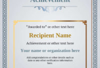 Certificate Of Achievement  Free Templates Easy To Use for Certificate Of Accomplishment Template Free