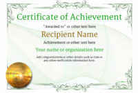 Certificate Of Achievement  Free Templates Easy To Use with regard to Free Printable Certificate Of Achievement Template