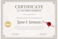 Certificate Of Achievement Retro Design Template in Quality Certificate Of Accomplishment Template Free
